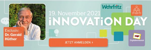 Wehrfritz – Innovationday 2021, Jetzt anmelden